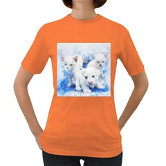 Dog Cats Pet Art Abstract Women s Dark T Shirt