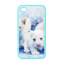 Dog Cats Pet Art Abstract Apple Iphone 4 Case (color)