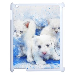 Dog Cats Pet Art Abstract Apple Ipad 2 Case (white)