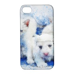 Dog Cats Pet Art Abstract Apple Iphone 4/4s Hardshell Case With Stand