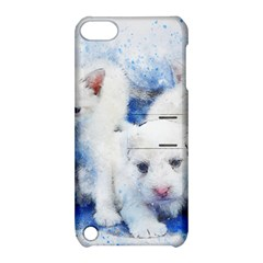 Dog Cats Pet Art Abstract Apple Ipod Touch 5 Hardshell Case With Stand