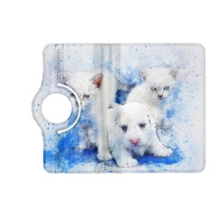 Dog Cats Pet Art Abstract Kindle Fire Hd (2013) Flip 360 Case
