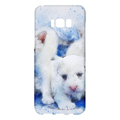 Dog Cats Pet Art Abstract Samsung Galaxy S8 Plus Hardshell Case