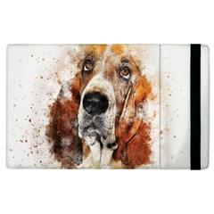 Dog Basset Pet Art Abstract Apple Ipad 2 Flip Case