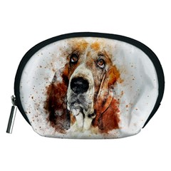 Dog Basset Pet Art Abstract Accessory Pouches (medium)