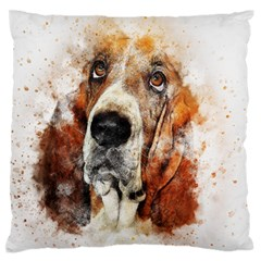 Dog Basset Pet Art Abstract Standard Flano Cushion Case (two Sides)