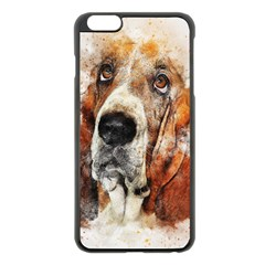 Dog Basset Pet Art Abstract Apple Iphone 6 Plus/6s Plus Black Enamel Case