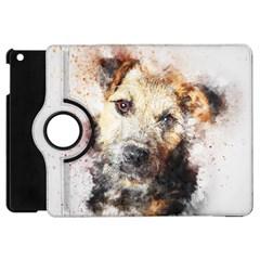 Dog Animal Pet Art Abstract Apple Ipad Mini Flip 360 Case