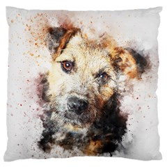 Dog Animal Pet Art Abstract Standard Flano Cushion Case (one Side)