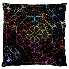 Background Grid Art Abstract Large Cushion Case (two Sides)
