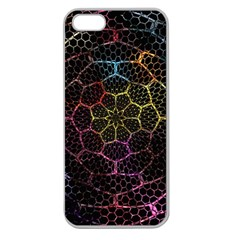 Background Grid Art Abstract Apple Seamless Iphone 5 Case (clear)