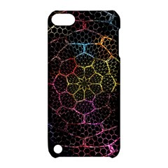 Background Grid Art Abstract Apple Ipod Touch 5 Hardshell Case With Stand