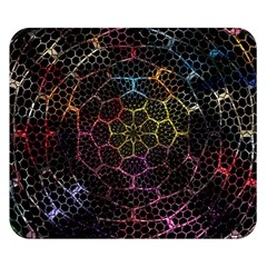 Background Grid Art Abstract Double Sided Flano Blanket (small)