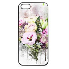 Flowers Bouquet Art Abstract Apple Iphone 5 Seamless Case (black)