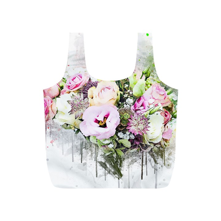 Flowers Bouquet Art Abstract Full Print Recycle Bags (S)
