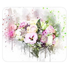 Flowers Bouquet Art Abstract Double Sided Flano Blanket (small)