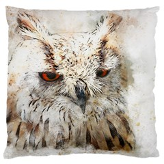 Bird Owl Animal Art Abstract Large Cushion Case (two Sides)