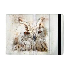 Bird Owl Animal Art Abstract Apple Ipad Mini Flip Case