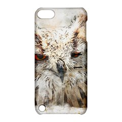 Bird Owl Animal Art Abstract Apple Ipod Touch 5 Hardshell Case With Stand
