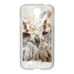 Bird Owl Animal Art Abstract Samsung Galaxy S4 I9500/ I9505 Case (white)