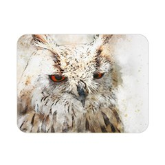 Bird Owl Animal Art Abstract Double Sided Flano Blanket (mini)