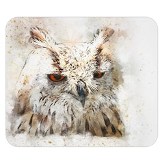 Bird Owl Animal Art Abstract Double Sided Flano Blanket (small)