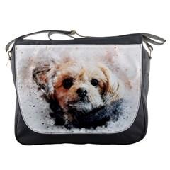Dog Animal Pet Art Abstract Messenger Bags