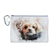 Dog Animal Pet Art Abstract Canvas Cosmetic Bag (m)