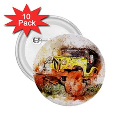Car Old Car Fart Abstract 2 25  Buttons (10 Pack)