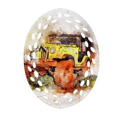 Car Old Car Fart Abstract Ornament (oval Filigree)