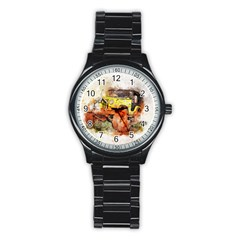 Car Old Car Fart Abstract Stainless Steel Round Watch