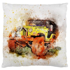 Car Old Car Fart Abstract Large Flano Cushion Case (two Sides)