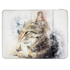 Cat Animal Art Abstract Watercolor Samsung Galaxy Tab 7  P1000 Flip Case