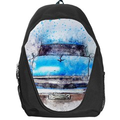 Car Old Car Art Abstract Backpack Bag