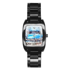 Car Old Car Art Abstract Stainless Steel Barrel Watch