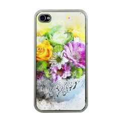 Flowers Vase Art Abstract Nature Apple Iphone 4 Case (clear)