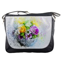 Flowers Vase Art Abstract Nature Messenger Bags