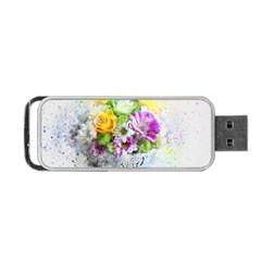 Flowers Vase Art Abstract Nature Portable Usb Flash (one Side)