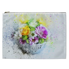 Flowers Vase Art Abstract Nature Cosmetic Bag (xxl)