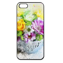 Flowers Vase Art Abstract Nature Apple Iphone 5 Seamless Case (black)