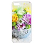 Flowers Vase Art Abstract Nature Apple iPhone 5 Seamless Case (White) Front