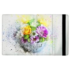 Flowers Vase Art Abstract Nature Apple Ipad 3/4 Flip Case