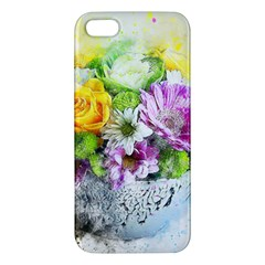Flowers Vase Art Abstract Nature Iphone 5s/ Se Premium Hardshell Case