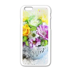Flowers Vase Art Abstract Nature Apple Iphone 6/6s White Enamel Case