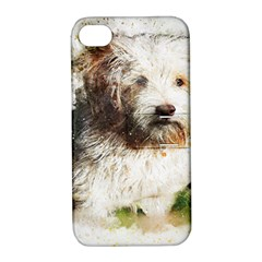Dog Animal Pet Art Abstract Apple Iphone 4/4s Hardshell Case With Stand