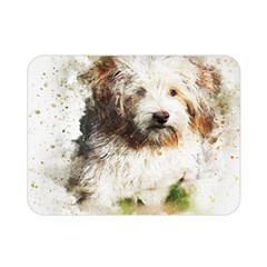 Dog Animal Pet Art Abstract Double Sided Flano Blanket (mini)