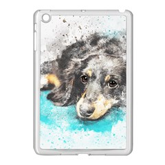 Dog Animal Art Abstract Watercolor Apple Ipad Mini Case (white)