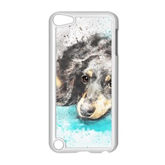 Dog Animal Art Abstract Watercolor Apple Ipod Touch 5 Case (white)