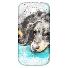 Dog Animal Art Abstract Watercolor Samsung Galaxy S3 S Iii Classic Hardshell Back Case