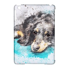 Dog Animal Art Abstract Watercolor Apple Ipad Mini Hardshell Case (compatible With Smart Cover)